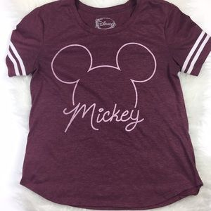 Disney Mickey Mouse T Shirt Extra Large Red White